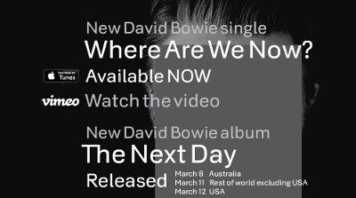デヴィッド・ボウイが10年ぶりにアルバムを出す!