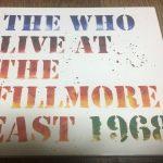 ザ・フー『Live at Fillmore East 1968』