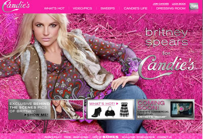 Britney Spears on Candie's
